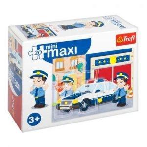 TREFL Puzzle miniMaxi 20 el. Pojazdy, Policja (21051)