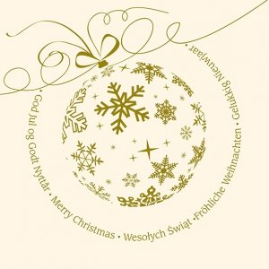 Kartka świąteczna kwadratowa BOŻE NARODZENIE 15 x 15 cm + koperta (40854)