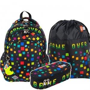 ZESTAW 3 el. Plecak wczesnoszkolny ST.RIGHT GAME OVER BP58 (27101SET3CZ)