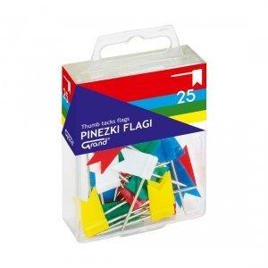 Pinezki FLAGI 25 sztuk w pudełku GRAND (110-1001)