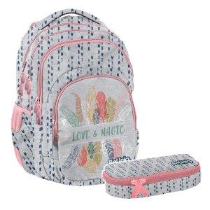 ZESTAW 2 el. Plecak szkolny młodzieżowy MAGIC Paso (PPMG20-2706SET2CZ)