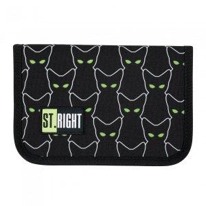 Piórnik St.Right bez wyposażenia w odblaskowe koty, REFLECTIVE CATS PC3 (25565)