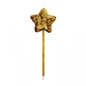 Długopis świąteczny z cekinową dekoracją ZŁOTA GWIAZDA INCOOD.  (0106-0268)