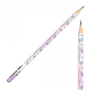 Ołówek szkolny trójkątny KIDEA HB UNICORN Jednorożec (OTNKA)