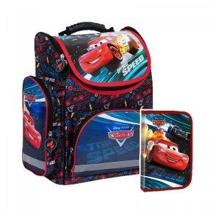 ZESTAW 2 el. Tornister szkolny ergonomiczny CARS Auta (TEMBCA48SET2CZ)
