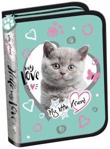 Piórnik St. Majewski bez wyposażenia My Little Friend CAT MINT Kotek w turkusie (04845)