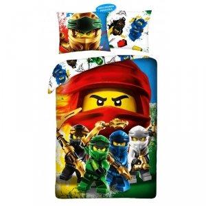 Pościel bawełniana LEGO NINJAGO 140 x 200 cm (LEG-895BL)