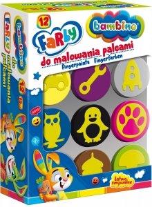 Farby do malowania palcami + stempelki pieczątki BAMBINO dla chłopca (03165)