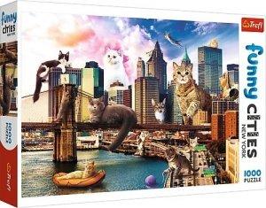 TREFL Puzzle FUNNY CITIES 1000 el. KOTY W NOWYM JORKU (10595)