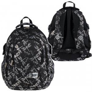 Plecak szkolny młodzieżowy ST.RIGHT w ważki, DRAGONFLIES BP1 (27521)