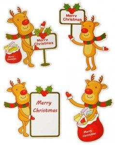 Bilecik świąteczny Karnet do prezentów 16 sztuk (0040-000026)