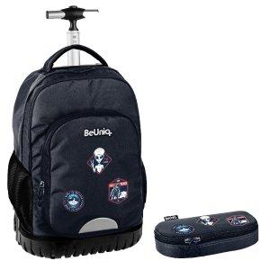 ZESTAW 2 el. Plecak szkolny, młodzieżowy na kółkach kosmici, UFO Paso (PPUF20-1231SET2CZ)