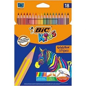 Kredki Eco Evolution Stripes 18 kolorów BiC (99126)