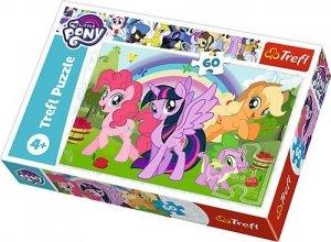 TREFL Puzzle 60 el. Tęczowa przyjaźń, My Little Pony (17323)