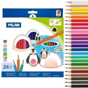 Kredki ołówkowe MILAN 24 kolory trójkątne (0722324)