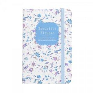 Notes na gumkę A6 Beautiful Flowers niebieski (925034)