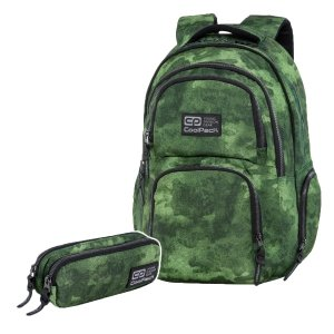 ZESTAW 2 el. Plecak CoolPack AERO mglisty zielony, FOGGY GREEN (C34133SET2CZ)
