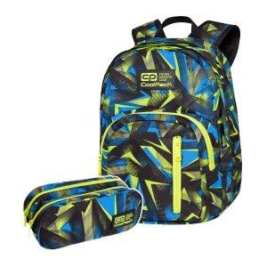 ZESTAW 2 el. Plecak CoolPack DISCOVERY 27 L żółte wzory, SETSQUARE (C38246SET2CZ)