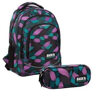 ZESTAW 2 el. Plecak szkolny młodzieżowy BackUP 26 L przeplatanka, FLOW (PLB3O10SET2CZ)