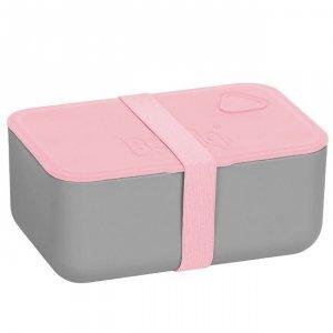 Śniadaniówka BEUNIQ szaro - różowa Lunch Box Paso (PP21-3033C)