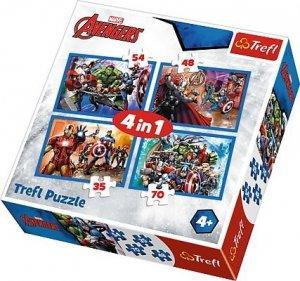 TREFL Puzzle 4 w 1 Nieustraszeni Avengersi, Avengers (34310)