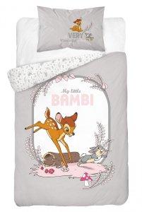 Komplet pościeli pościel Bambi SZARA Jelonek 100X135 (BAMBI_02B)
