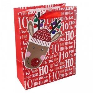 Torebka świąteczna na prezent HO HO HO Incood. (0071-0311)