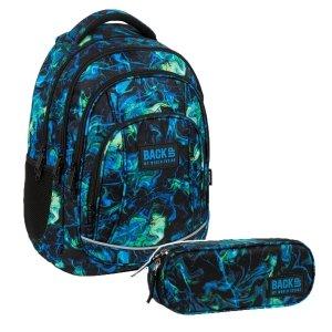 ZESTAW 2 el. Plecak szkolny młodzieżowy BackUP 26 L kolorowe smugi, ULTRA (PLB3A06SET2CZ)