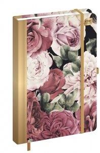 Kalendarz książkowy A5 FLOWERS Kwiaty 2021 (92827)