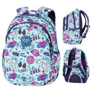 Plecak wczesnoszkolny CoolPack JERRY 21 L kolorowe wzory, MINT DODDLES (D029321)