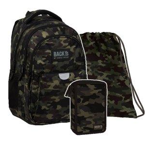 ZESTAW 3 el. Plecak wczesnoszkolny BackUP 22 L MORO (PLB3P22SET3CZ)