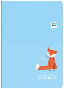 Zeszyt A5 w kolorową linię 16 kartek B&B FOX lisek (55563)