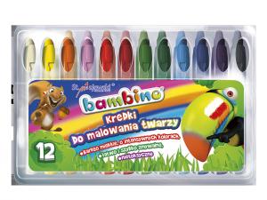 Kredki BAMBINO do malowania twarzy 12 kolorów (05046)