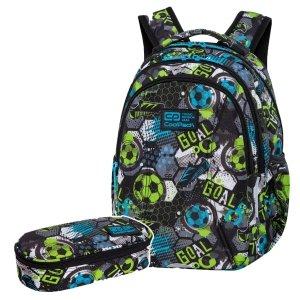 ZESTAW 2 el. Plecak wczesnoszkolny CoolPack JOY S 21L piłka nożna, FOOTBALL (C48230SET2CZ)
