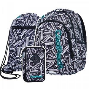 ZESTAW 3 el. Plecak CoolPack PRIME w śrubki, SCREWS (B25033SET3CZ)