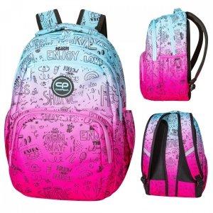 Plecak CoolPack PICK  różowe ombre, PINK SCRIBBLE (D100340)