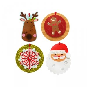 Bilecik świąteczny Karnet do prezentów z aplikacją 3D 8 sztuk (0040-0145)