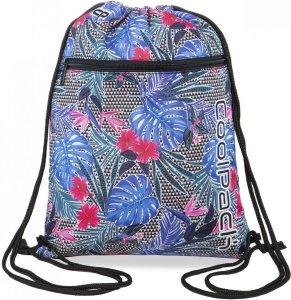 WOREK CoolPack VERT sportowy na obuwie w kolorowe kwiaty, ALOHA BLUE (B70048)