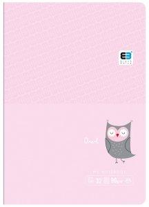 Zeszyt A5 w kratkę 16 kartek B&B OWL sowa (55549)