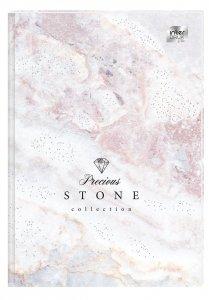 Brulion A4 96 kartek w kratkę, twarda oprawa METALIC stone (73123)