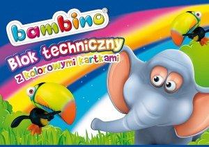 BLOK TECHNICZNY A4 kolorowe kartki BAMBINO (01567)