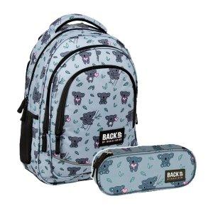 ZESTAW 2 el. Plecak szkolny młodzieżowy BackUP 26 L KOALA (PLB3X15SET2CZ)