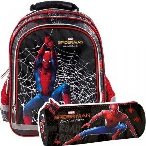 ZESTAW 2 el. Plecak szkolny Spiderman (PL15BSH12SET2CZ)