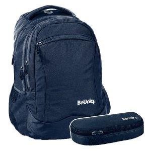 ZESTAW 2 el. Plecak szkolny młodzieżowy granatowy, NAVY Paso (PPNY20-2808SET2CZ)