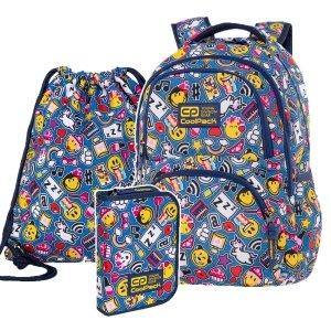 ZESTAW 3 el. Plecak CoolPack DART 27 L Emoji EMOTIKONY (C19142SET3CZ)