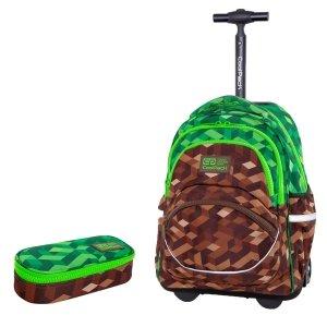 ZESTAW 2 el. Plecak CoolPack STARR 27 L na kółkach miejska dżungla, CITY JUNGLE (C35199SET2CZ)