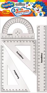 Zestaw geometryczny 4 elementy 20 cm BAMBINO mix (28580)