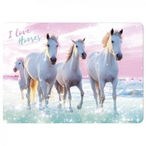 Podkładka laminowana I LOVE HORSES Konie (PLAKO22)