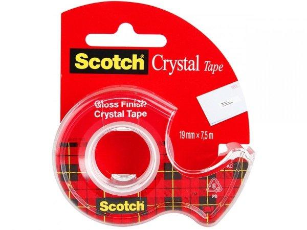 Taśma klejąca CRYSTAL z dyspenserem 3M Scotch (59306)