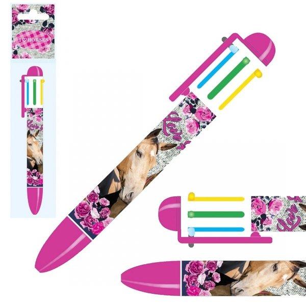 Długopis automatyczny 6 kolorów Konie I LOVE HORSES (D6KKO13)